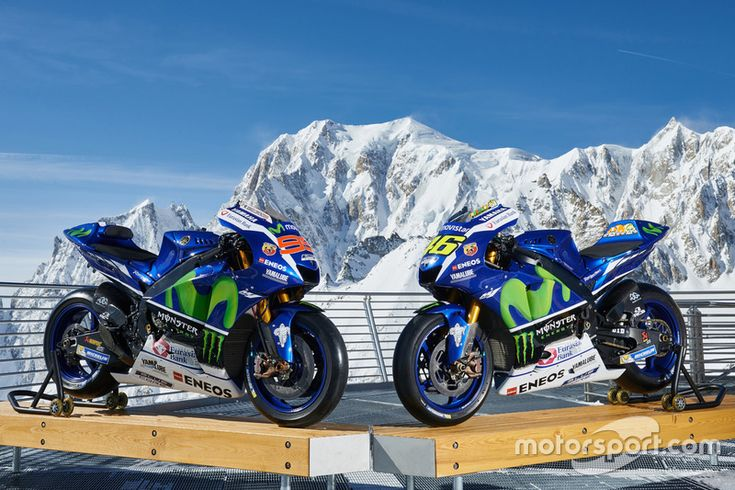 The 2016 Yamaha YZR-M1s of Jorge Lorenzo and Valentino Rossi, Yamaha Factory Racing
