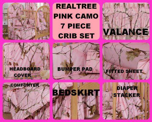 Realtree Pink Camo 7 Piece Baby Crib Set - Gift Set, Save By Bundling! Realtree http://www.amazon.com/dp/B00JYIQSFU/ref=cm_sw_r_pi_dp_0YN0tb13RACPXPJM