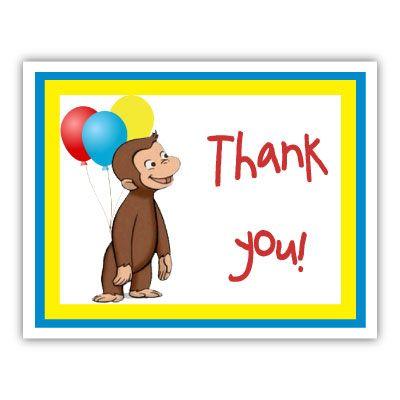 Miraculous Thank You Card Curious George Birthday Curious George Party Personalised Birthday Cards Veneteletsinfo