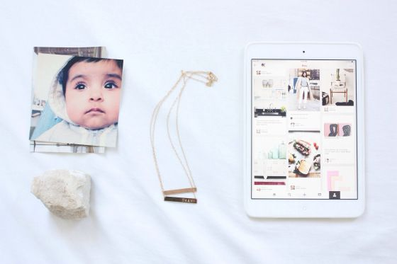 SOME OF MY FAVOURITE THINGS / photos of my babies, rocks, luca jewelry nameplate necklaces, my ipad mini, and pinterest! / tahsin, the good