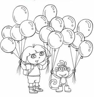 17 best dora explore coloring pages images on pinterest | dora the ... - Nick Jr Characters Coloring Pages