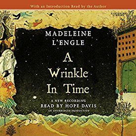 "Another must-listen from my #AudibleApp: ""A Wrinkle in Time"" by Madeleine L'Engle, narrated by Hope Davis."