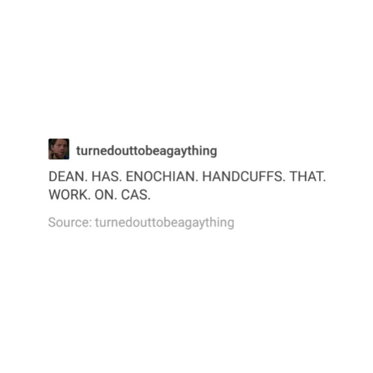 supernatural tumblr textpost destiel cockles funny lol