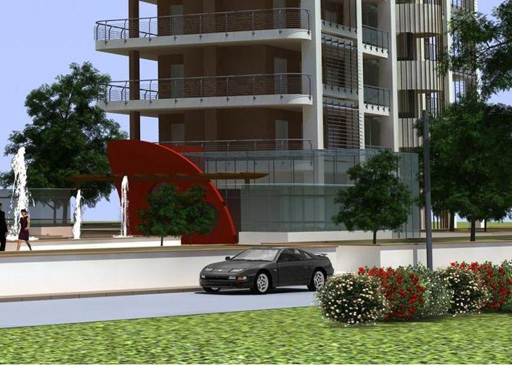 Progettazione di due edifici per attivit commerciali direzionali e residenziali, Salerno, 2010 - Bruno D'Amico