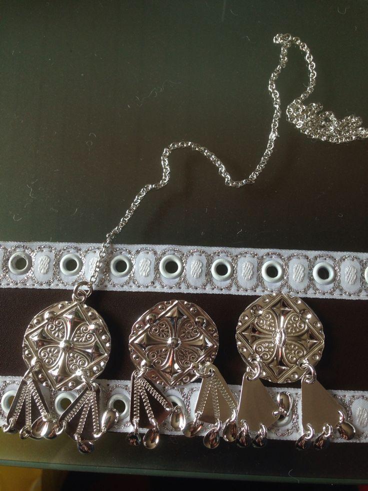 Sølvknapper med gradert avheng laget ved Kautokeino sølvsmie , knappene skal jeg nå montere på et belte som min datter skal bære på sim konfirmasjon i slutten av mai måned .