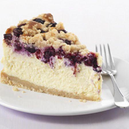 Philadelphia Blueberry Streusel Cheesecake Recipe More