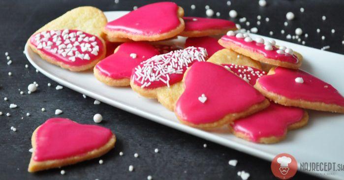 Fotorecept   Valentínske srdiečkové keksíky