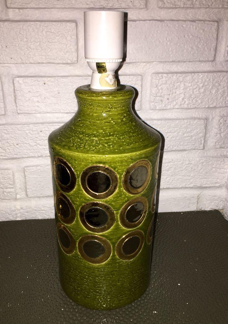 Bitossi Ikano lamp base. Mid-Century Modern Italian Ceramics. Aldo Londi.