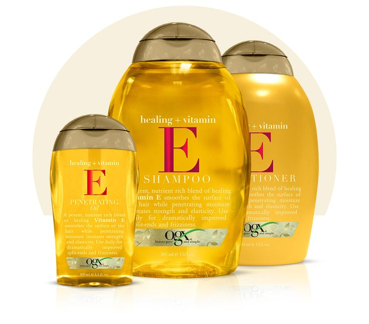 Vitamin E : Shampoo Conditioner && Penetrating Oil!  Great For Split Ends.