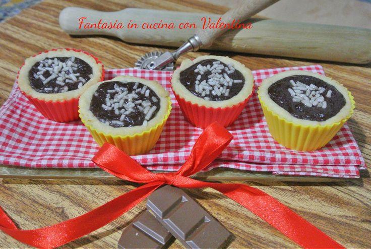 Cestinetti+con+cioccolato+fondente