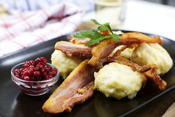 Pitepalt med stekt fläsk | Recept från Köket.se