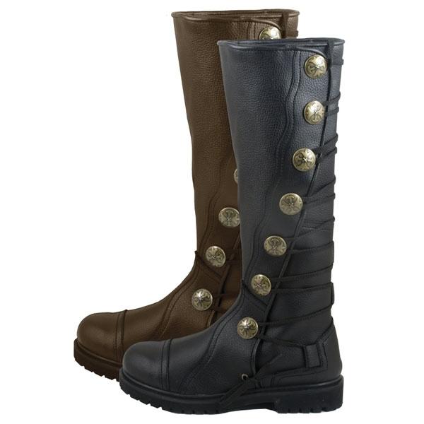 Premium Top-Grain Leather Renaissance Boots, Highland Boots, Reenactment Boots, Kilt Boots