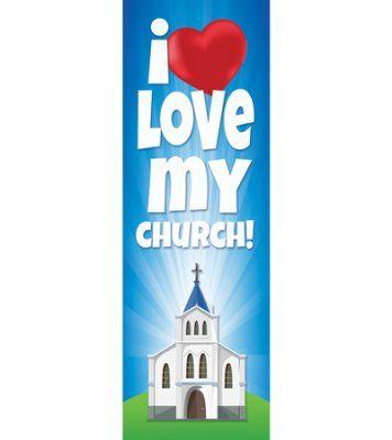 I Love My Church (Psalm 122:1, NKJV) Bookmarks, Pack of 25