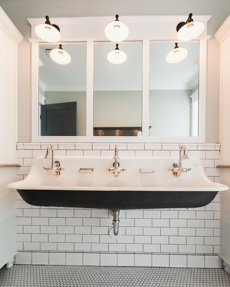 Planning out a new hall bathroom design and thinking about breaking out the triple trough sink again... It's been awhile.