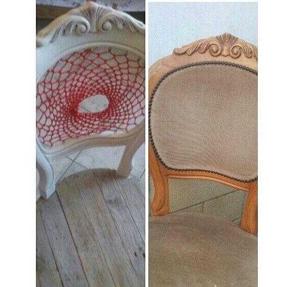 Restyling Chair diy dreamcatcher white