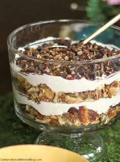 This pecan pie trifle is such an easy and delicious dessert for holidays or entertaining any time  #DiamondCrystalSalt