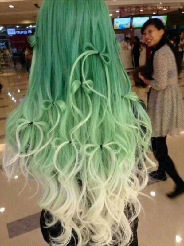 Cool green hair 唯美个性染发发型