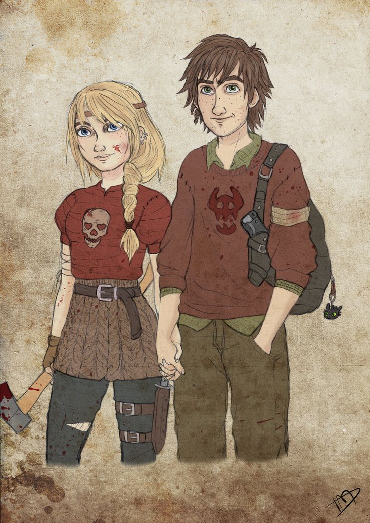 The Walking Dreamworks : Hiccup and Astrid by Kasami-Sensei.deviantart.com on @deviantART