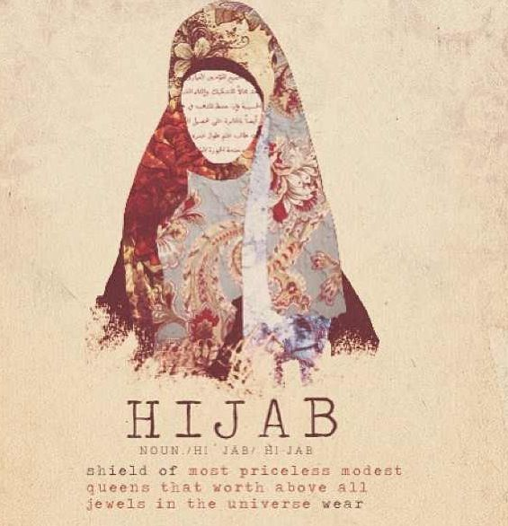 Hijabi poster.Great message, great image and fonts...just needs the wording corrected. Would love it if the original poster could correct the wording for English.