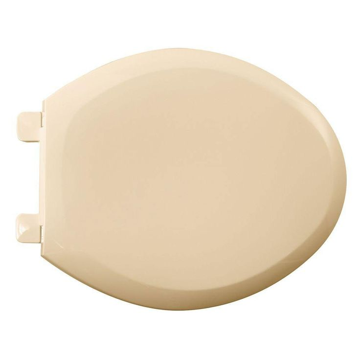 American Standard 5350.110.021 Cadet-3 Elongated Slow Close Toilet Seat with EverClean Surface, Bone 446549