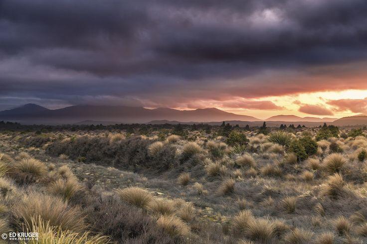Sunrise in Rangipo Desert, New Zealand