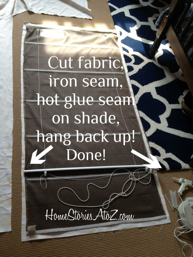 How to recover roman blinds for new colour scheme