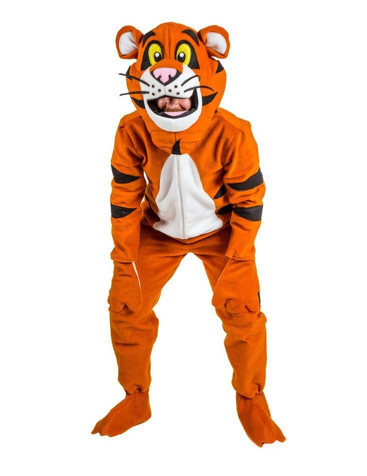 Disfraz tigre adulto: Este disfraz de tigre para adulto incluye un pasamontañas y un traje.El traje es de tela suave y se cierra por delante con un sistema de cierre guía. Es de color naranja y negro. Las...