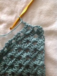 This is the start of my diagonal granny stripe afghan.  I started it back in the fall, and I ended up putting it away when the Christmas d...