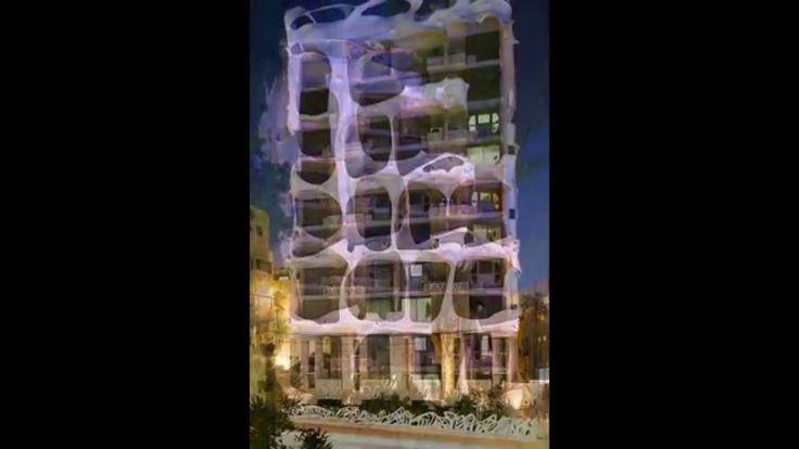 "The ""Crazy House"" in Tel Aviv, Israel   #TelAviv #architecture #Israel #Gaudi #Sikora #realestate #realestatetelaviv #CrazyHouse #realestatephotography #luxurybuilding #KaśkaSikora #KatarzynaSikora"