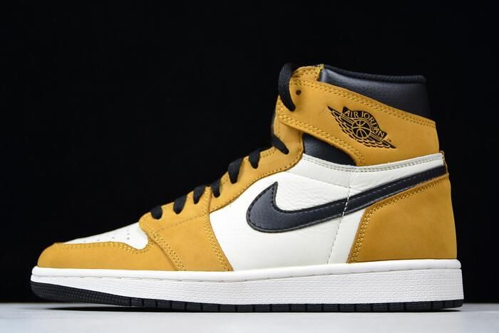 "9457dfe623321b Air Jordan 1 Retro High OG ""Rookie Of The Year"" Gold Harvest Black 555088- 700 in 2019"