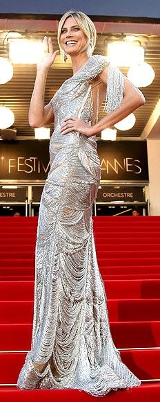 Heidi Klum in Marchesa at the 2012 Cannes Film Festival