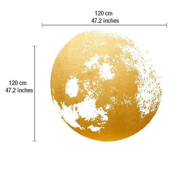 Decal Golden goud folie kunst maan maan muur door HomeArtStickers