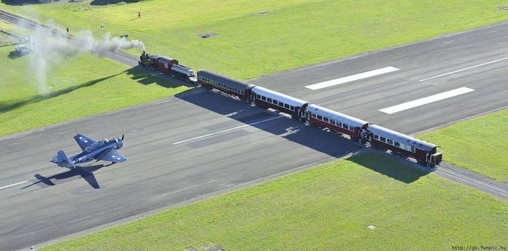 Extreme Airport:  GISBORNE Airport on the North Island of New Zealand is a small regional airport that has train tracks intersecting the runway.  Both the airport and the train routes are active so one has to wait while the other passes or lands.