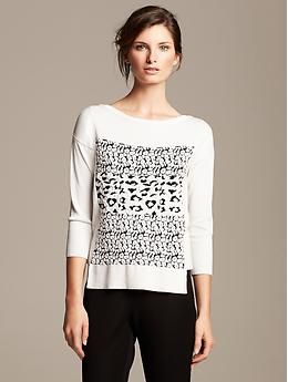 Roland Mouret Collection Leopard Pullover | Banana Republic