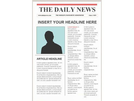 Old Blank Newspaper Template Choice Image - Template Design Ideas