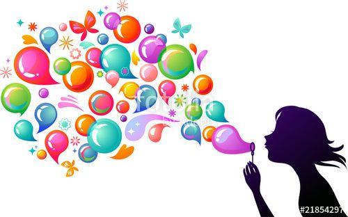 """Téléchargez le fichier vectoriel libre de droits """"Blowing soap bubbles - 2"""" créé par Marina Zlochin au meilleur prix sur Fotolia.com. Parcourez notre banque d'images en ligne et trouvez l'illustration parfaite pour vos projets marketing !"""