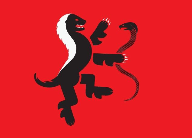 because the honey badger doesn't give a s**t. or because this design is friggin awesome.
