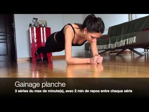 Programme Musculation Femme à la maison sans matériel - YouTube