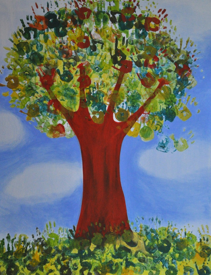 Tree made of children's hands...