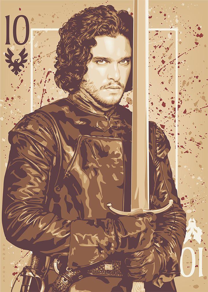 Jon Snow, bastard son of Eddard Stark and Lord Commander of the Night's Watch