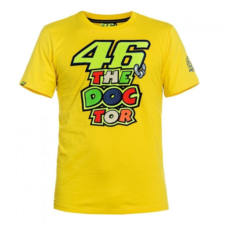 2017 Valentino Rossi VR46 T-shirt 46 the doctor Moto GP Monza Cotton T shirt #WillKnight #RacingShirt