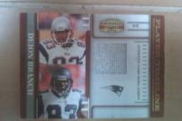 2007 Player Timeline Deion Branch GU Jersey LE NFL New England Patriots