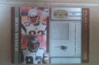 2007 Player Timeline Deion Branch GU Jersey LE NFL New England Patriots