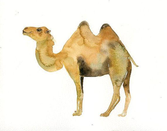 CAMEL Original watercolor painting 10x8inch