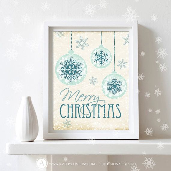 "Printable Christmas Decor Poster Print   Merry by AmeliyCom, $5.00 NSTANT DOWNLOAD Printable Christmas Decor Poster Print - ""Merry Christmas"" Retro Art Print Christmas Decoration - DIY Art Wall Decor for Holiday Decoration. Christmas Gift  ---------- Christmas Gift Idea! ----------  You can print, then put it in a frame and make the perfect Christmas Gift for your loved ones, family, coworkers or friends!  Just print, cut and ready to go!"