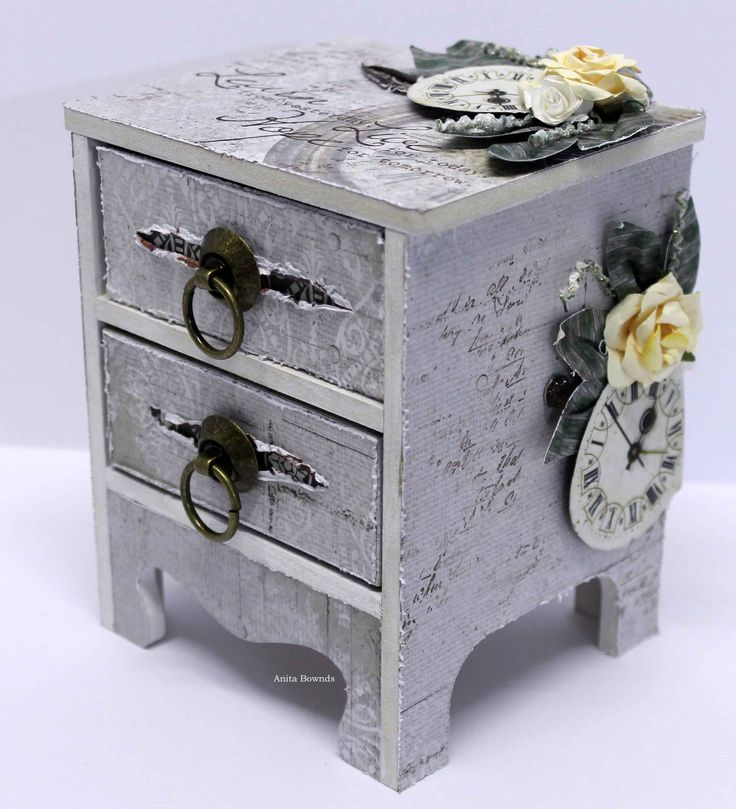 Vintage mini Dresser - Anita Bownds for #kaisercraft