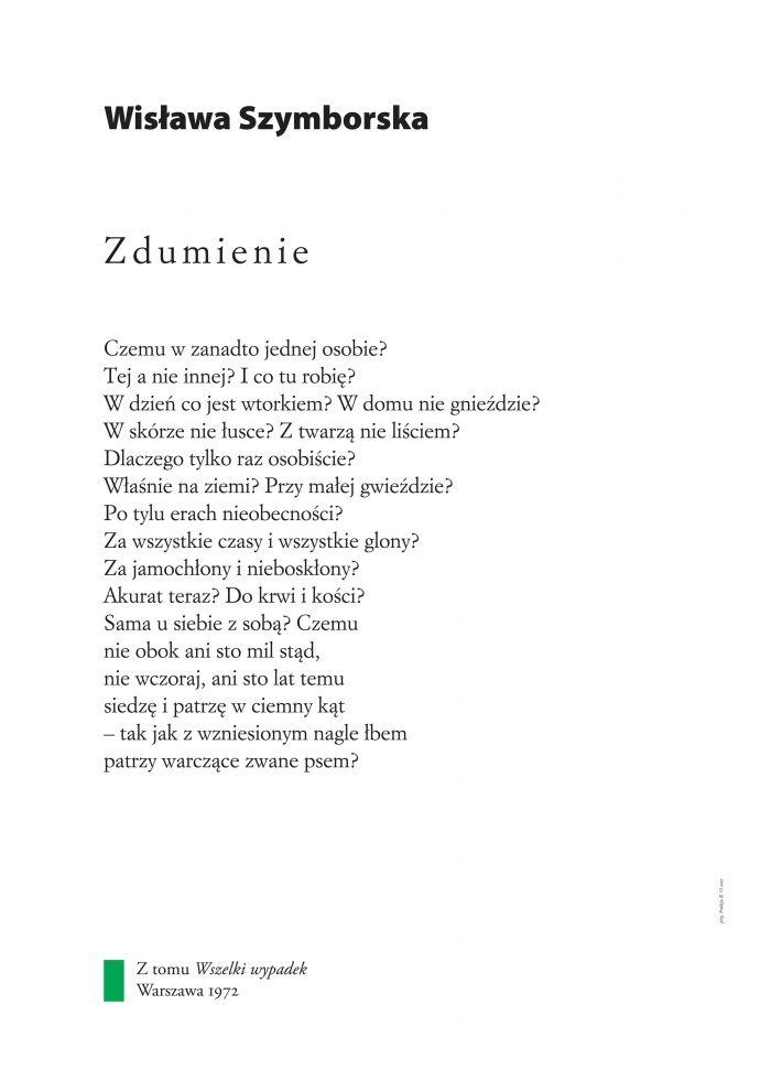 Wisława Szymborska ZDUMIENIE
