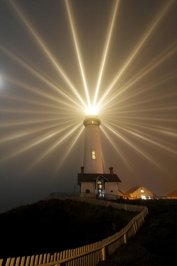 - Pigeon Point Lighthouse - Moonlight -  South Coastside, CA -