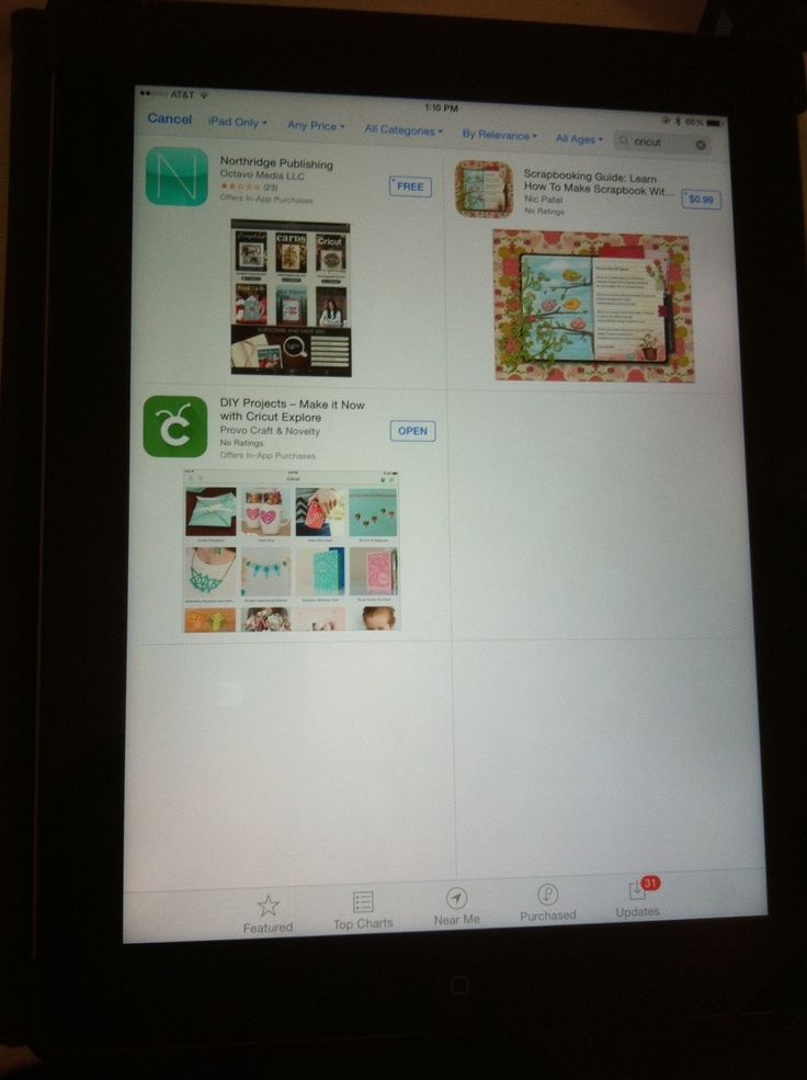 Cricut Explore iPad App for Make It Now Projects is Ready