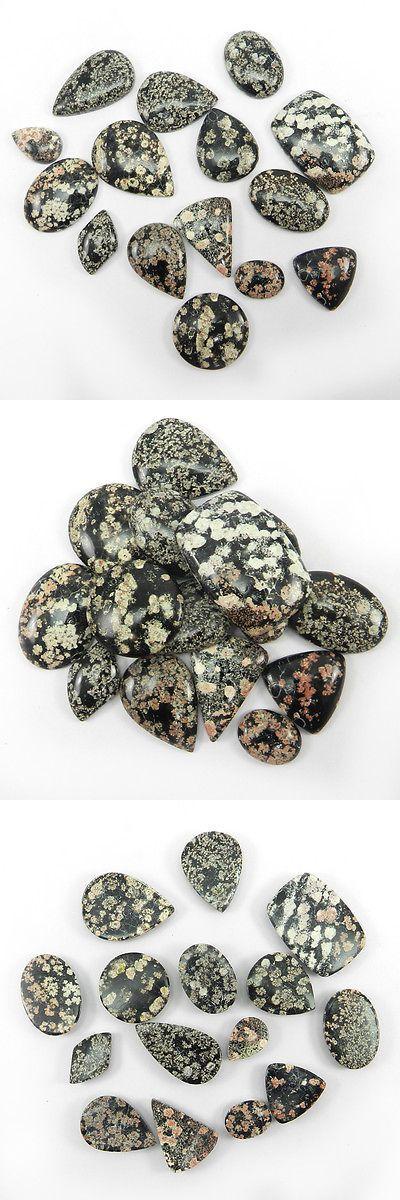 Obsidian 110803: Wholesale Lot 15 Pcs Fireworks Obsidian Gemstone 50Gm Mix Cabochon Stones Er9176 -> BUY IT NOW ONLY: $45.99 on eBay!